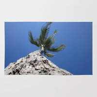 palm tree Area & Throw Rugs featuring Palm Tree by Ash & Shan