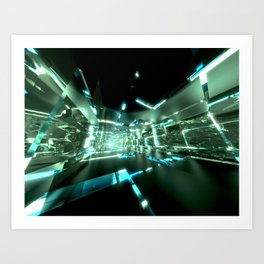 Emerald Tunnels no2 Art Print