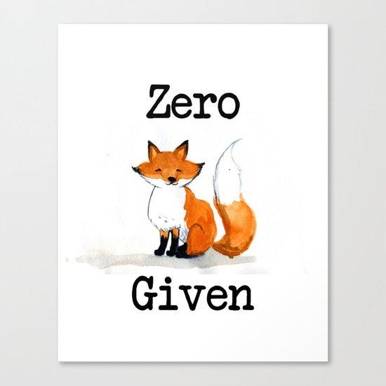 Zero Fox Given Canvas Print