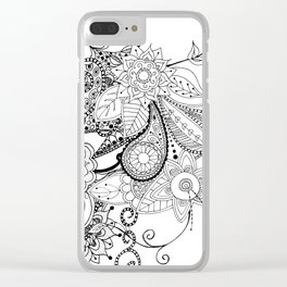 DOODLE MANIA Clear iPhone Case