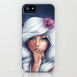 White-haired Girl iPhone Case