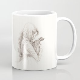 girl with rabbit Coffee Mug
