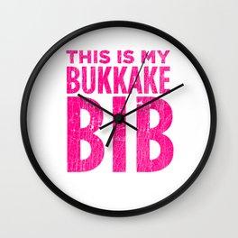 This is my Bukkake Bib product - BDSM Submissive designs Wall Clock