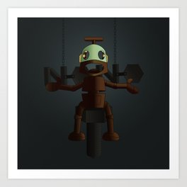 Nono the robot (reloaded) Art Print