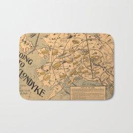 Vintage Alaska Board Game Map (1897) Bath Mat