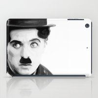 charlie chaplin iPad Cases featuring Charlie Chaplin by Thousand Lines Ink