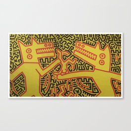 Monsters - keith haring Canvas Print