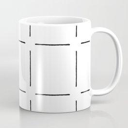 Block Print Simple Squares in Black & White Coffee Mug