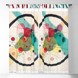 Kandinsky - Circles in a Circle (1923) - Abstract Art Classic - [With Details] Blackout Curtain