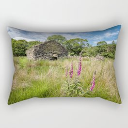 Foxglove Ruin Rectangular Pillow