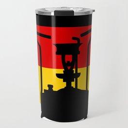 Pressure Stove with German Flag Travel Mug