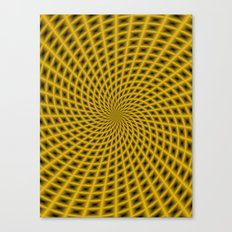 Spiral Rays in Gold Canvas Print