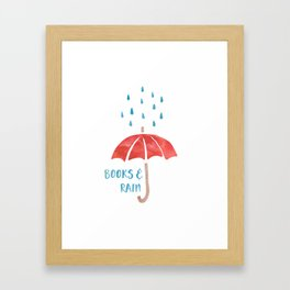 Books and Rain Framed Art Print