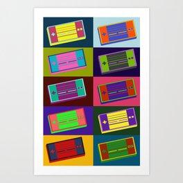 Retro Super Nintendo controller Art Print