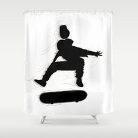 shadow Shower Curtains featuring Shadow. by SalazART