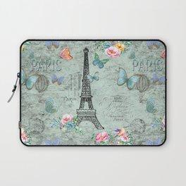 Paris - my love - France Eiffeltower Nostalgy - French Vintage Laptop Sleeve
