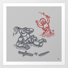 Happy Knight  Art Print
