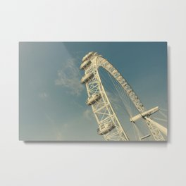 London Eye Sunny Day Metal Print