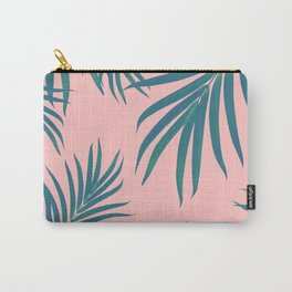 Palm Leaves Pattern Blush Vibes #1 #tropical #decor #art #society6 Carry-All Pouch
