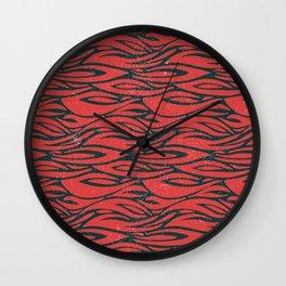 Distressed Tiger Pattern Wall Clock