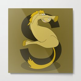 Monogram S Pony Metal Print