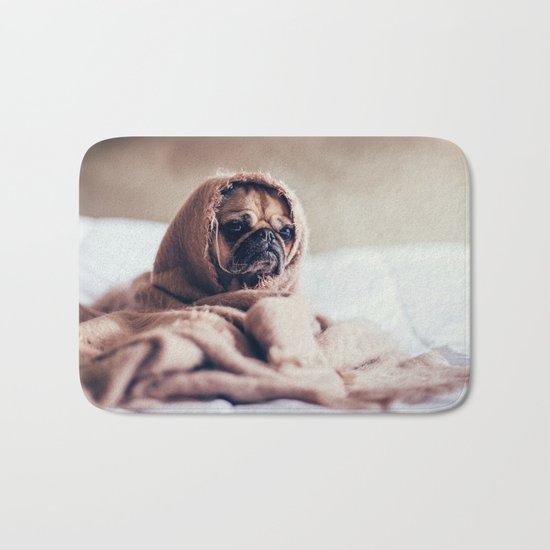 Cute Little Pug Bath Mat