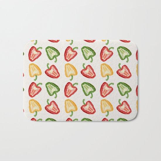 Mixed Peppers Pattern Bath Mat
