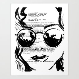 Almost Famous Screenplay Portrait Art Print