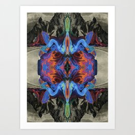 Marbled Mountains 002 Art Print