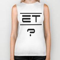 et Biker Tanks featuring ET? by TLineInc