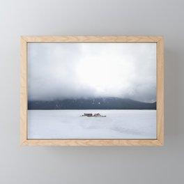 Lake Minnewanka Fog Framed Mini Art Print
