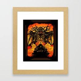 Winged God Monster Framed Art Print
