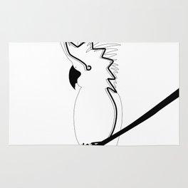 Cockatoo in line Rug
