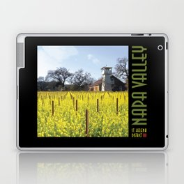Water Tower & Mustard - Napa Valley III Laptop & iPad Skin