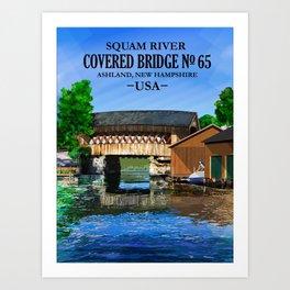Covered Bridge #65 Art Print
