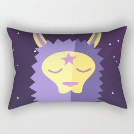 Yacana: The Space Llama Head (Lilac) Rectangular Pillow