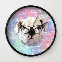 Singing Bulldog Wall Clock