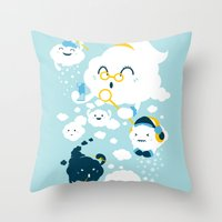 family Throw Pillows featuring family by Steven Toang