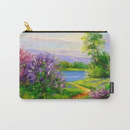 Lilac bloom on the river Carry-All Pouch