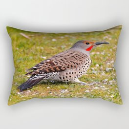 Adult Northern Flicker in the Grass Rectangular Pillow