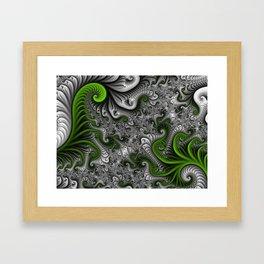 Fantasy World, abstract Fractal Art Framed Art Print