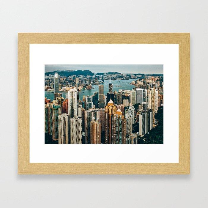 Golden Harbour Framed Art Print