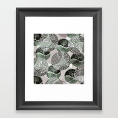 Zentangle and Tree Motifs in Circles Framed Art Print