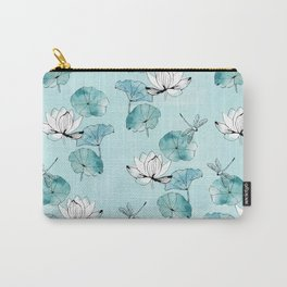 Waterlily dragonfly in green Carry-All Pouch