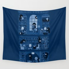 Silence in the Library Wall Tapestry