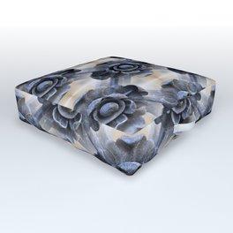 Wrought Iron Trellis Flowers Outdoor Floor Cushion