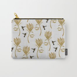 Hummingbird & Flower I Carry-All Pouch