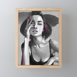 Pinky Tears beauty Framed Mini Art Print