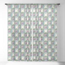 Wind Wheel Flower Sheer Curtain