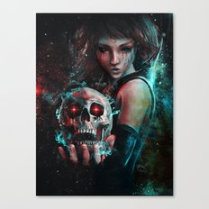 Skull Mage Dark Fantasy Original Character Painting Canvas Print